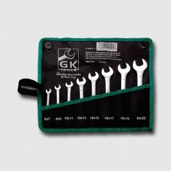 Sada plochých klíčů 6-22 mm 8 dílů chrom-obal