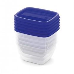 KIS Set Food Box VEDO 5x0,25L modrý