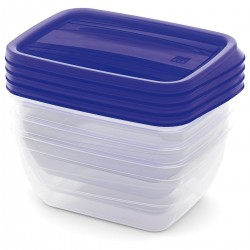 KIS Set Food Box VEDO 4x0,75L modrý