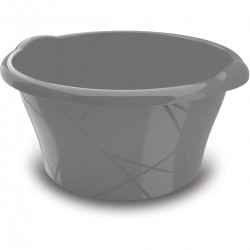 KIS Umyvadlo kulaté M - šedé 16l