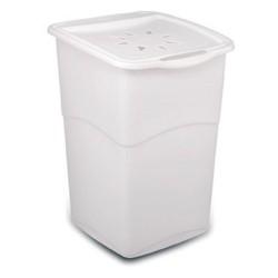 KIS Koš na prádlo Koral Hamper - bílý, 46,5L