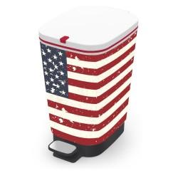 KIS Koš na odpad Chic Bin M - American Flag, 35L