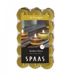 SPAAS Čajové svíčky vonné CLEAR 30ks citrus