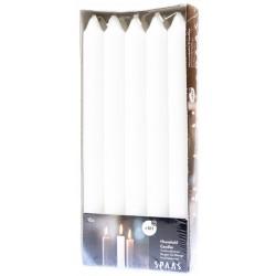 SPAAS Svíčky kónické 2 x 24 cm 10ks bílá