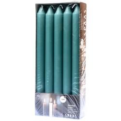 SPAAS Svíčky kónické 2 x 24 cm 10ks smaragdová
