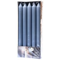 SPAAS Svíčky kónické 2 x 24 cm 10ks šedo-modrá