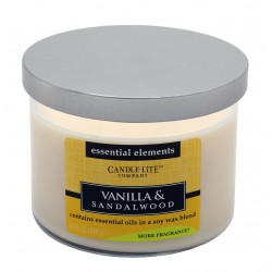 CANDLE-LITE ESSENTIAL ELEMENTS Svíčka dekorativní ve skle - Vanilla & Sandalwood 418g