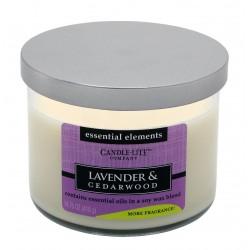 CANDLE-LITE Svíčka dekorativní ve skle - Lavender & Cedarwood 418g
