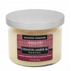 CANDLE-LITE Svíčka dekorativní ve skle - Crimson Amber & Santal  418g