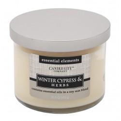CANDLE-LITE Svíčka dekorativní ve skle - Winter Cypress &Herbs 418g