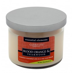 CANDLE-LITE Svíčka dekorativní ve skle - Blood Orange &Teakwood 418g