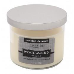 CANDLE-LITE Svíčka dekorativní ve skle - Smoked Amber & Slate 418g