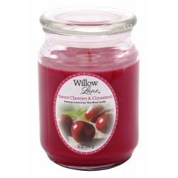 CANDLE-LITE Svíčka dekorativní ve skleněné dóze - Sweet Cherries & Cinnamon 538g