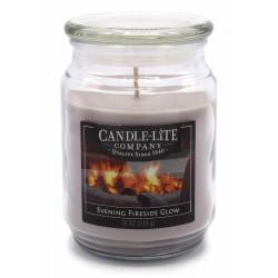 CANDLE-LITE Svíčka dekorativní ve skleněné dóze - Evening Fireside Glow  510g