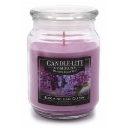 CANDLE-LITE Svíčka dekorativní ve skleněné dóze - Blooming Lilac Garden  510g