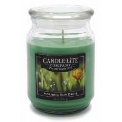 CANDLE-LITE Svíčka dekorativní ve skleněné dóze - Morning Dew Drops   510g