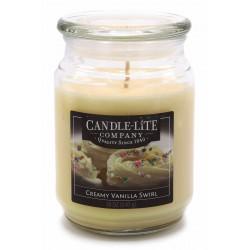 CANDLE-LITE Svíčka dekorativní ve skleněné dóze - Creamy Vanilla Swirl  510g