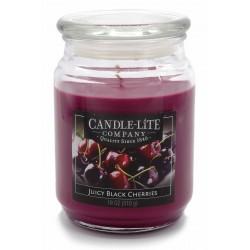 CANDLE-LITE Svíčka dekorativní ve skleněné dóze - Juicy Black Cherries  510g
