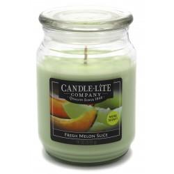 CANDLE-LITE Svíčka dekorativní ve skleněné dóze - Fresh Melon Slice  510g