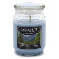 CANDLE-LITE Svíčka dekorativní ve skleněné dóze - Hidden Mountain Pass  510g