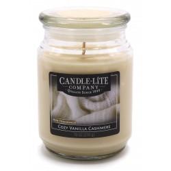 CANDLE-LITE Svíčka dekorativní ve skleněné dóze - Cozy Vanilla Cashmere  510g