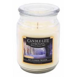 CANDLE-LITE Svíčka dekorativní ve skleněné dóze - Icy Cypress Woods   510g