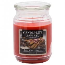 CANDLE-LITE Svíčka dekorativní ve skleněné dóze - COZY WINTER SPICES  510g