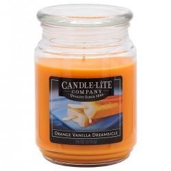 CANDLE-LITE Svíčka dekorativní ve skleněné dóze - ORANGE VANILLA DREAMSICLE  510g