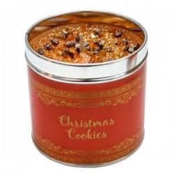 Svíčka vonná v nerezu 8x7,5cm Winter elegance - Christmas Cookie