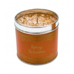 Svíčka vonná v nerezu 8x7,5cm Winter elegance - Spicy Satsuma