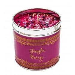 Svíčka vonná v nerezu 8x7,5cm Winter elegance - Jingle Berry