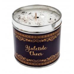 Svíčka vonná v nerezu 8x7,5cm Winter elegance - Yuletide Cheer