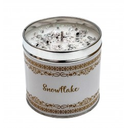 Svíčka vonná v nerezu 8x7,5cm Winter elegance - Snowflake