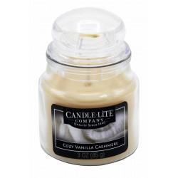 CANDLE-LITE Svíčka dekorativní ve skleněné dóze - Cozy Vanilla Cashmere  85g
