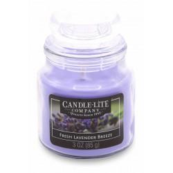 CANDLE-LITE Svíčka dekorativní ve skleněné dóze - Fresh Lavender Breeze  85g
