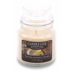 CANDLE-LITE Svíčka dekorativní ve skleněné dóze - Tahitian Coconut Colada  85g