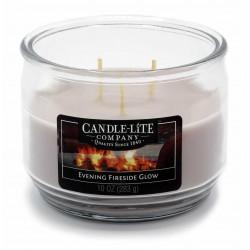 CANDLE-LITE Svíčka dekorativní ve skle - Evening Fireside Glow  283g