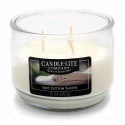 CANDLE-LITE Svíčka dekorativní ve skle - Soft Cotton Sheets  283g