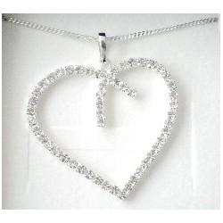 Náhrdelník Srdce Krystal