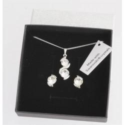 Souprava Dots Crystal.  Made with Swarovski crystals
