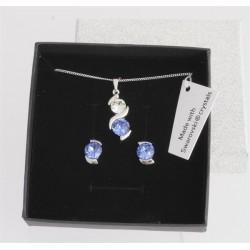 Souprava Dots Blue.  Made with Swarovski crystals