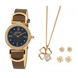Pierre Cardin dámská sada - hodinky  řetízek 2 sady náušnic