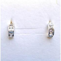 Náušnice křištál - stříbro. Made with®Swarovski crystals - SWAROVSKI