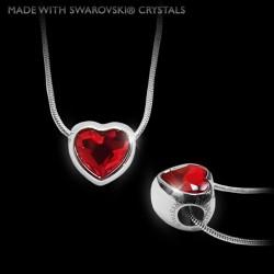Náhrdelník červené srdce Crystal. Made with Swarovski crystals - SWAROVSKI