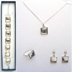 Sada šperků - Čtverec Crystal - SWAROVSKI
