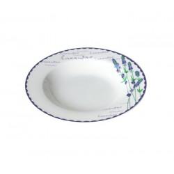 Talíř polévkový, motiv levandule, keramika
