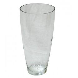 váza skleněná čirá 8,1 x 28,3 cm