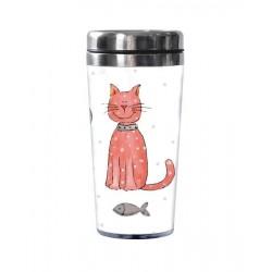 """Termohrnek """"Kočka"""" a """"Pes"""", 450 ml"""