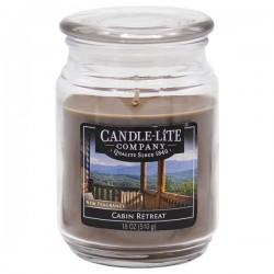 CANDLE-LITE Svíčka dekorativní ve skleněné dóze - Cabin Retreat 510g