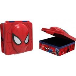 SVAČINOVÝ BOX PLASTOVÝ 3D SPIDERMAN, 600 ML